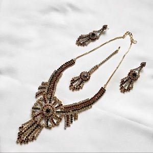 Jewelry - Indian necklace and earring set